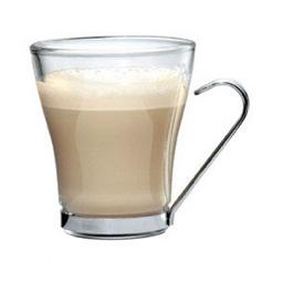 čaša za kuvano vino višenamenska za cappuccino,čaj staklena sa metalnom drškom
