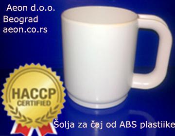 ŠOLJA ZA ČAJ 3 DL- ABS PLASTIKA-HACCP STANDARD