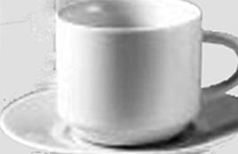 Kafanske šoljice za kafu sa tacnom,glat,bele,porcelanske,komadna prodaja