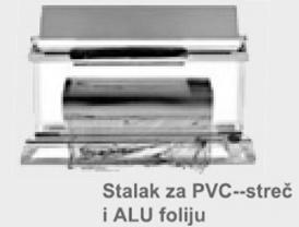 STALAK-DRŽAČ  SA SEKAČEM ZA PAKOVANJE  PVC-STREČ I ALUMINIJUM FOLIJOM