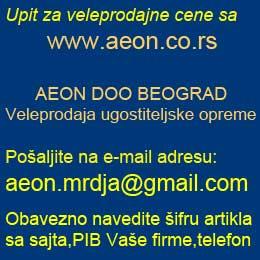 Upit za VP cene na aeon.mrdja@gmail.com Potreban PIB i tel.firme,šifra i/ili naziv artikla. Poslujemo samo sa firmama iz APR Srbije.