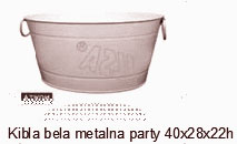 KIBLA BELA METALNA PARTY 40cm X28 cm X h 22 cm