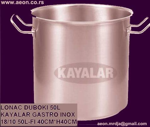 LONAC VELIKI DUBOKI 50 L GASTRO INOX 18/10