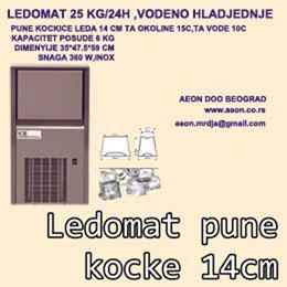 LEDOMAT 25KG/24H,VODENO HLADJENJE,PUNE KOCKE LEDA 14GR