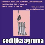 SOKOVNIK-CEDILJKA AGRUMA POTISKIVAČ