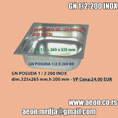 GN POSUDA 1/2 200 INOX  dim.325x265 mm,h 200 mm