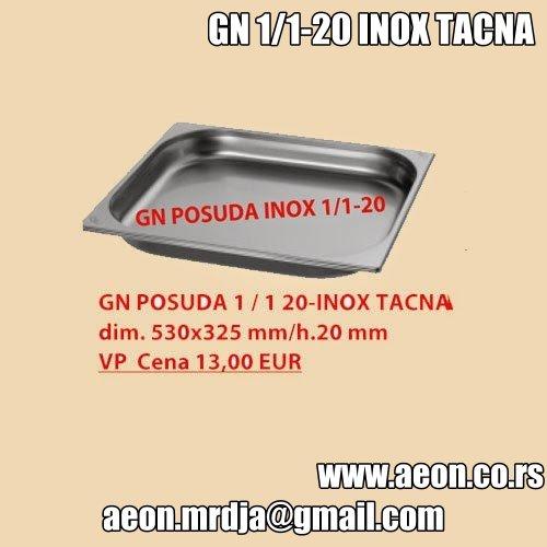 GN POSUDA 1/1 20-INOX TACNA dim.530x325mm/h.20mm
