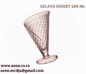 GELATO DESERT 280 ml čaša za sladoled transparentna Bormioli VPcena 290,00 din./1 kom.(Pak.2 kom)