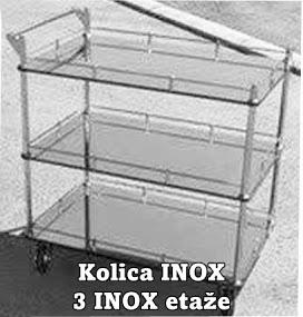 KOLICA SERVIRNA INOX SA 3 INOX  ETAŽE