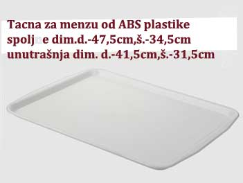 Poslužavnici od ABS plastike za menze