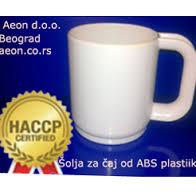 Šolja za čaj 300 ml od ABS plastike bele