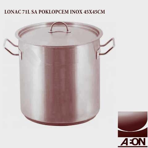 LONAC 71L SA POKLOPCEM INOX 45X45CM