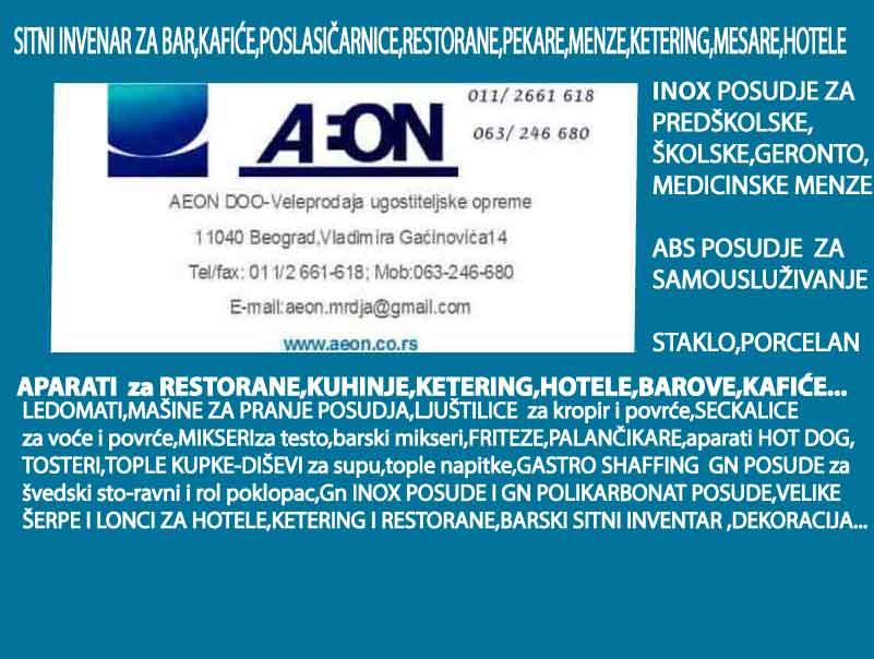 AEON DOO BEOGRAD-UGOSTITELJKA OPREMA