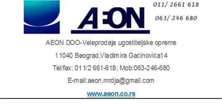 AEON DOO BEOGRAD-OPREMA ZA KETERING