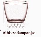 Kibla za šampanjac bez ručki transparenta plastična